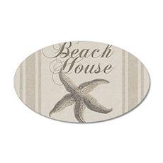 Beach House Starfish Sandy Coastal Decor Wall Deca