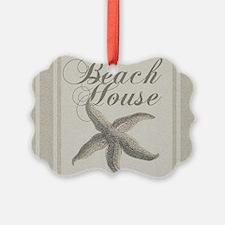 Beach House Starfish Sandy Coastal Decor Ornament