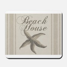 Beach House Starfish Sandy Coastal Decor Mousepad