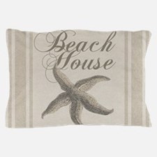 Beach House Starfish Sandy Coastal Decor Pillow Ca