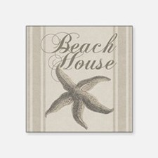 Beach House Starfish Sandy Coastal Decor Sticker