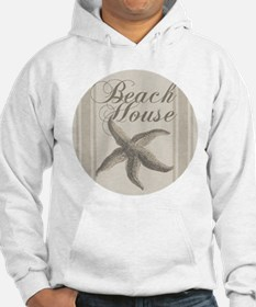 Beach House Starfish Sandy Coastal Decor Hoodie