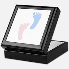 Baby Footprints Keepsake Box