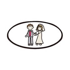 Stick Bride & Groom Patch