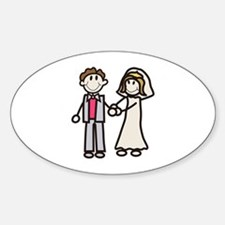 Stick Bride & Groom Decal