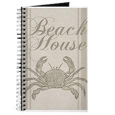 Beach House Crab Sandy Coastal Decor Journal