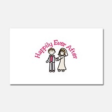 Happily Ever After Car Magnet 20 x 12