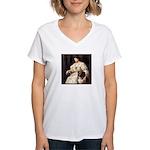 LADY & COLLIE Women's V-Neck T-Shirt