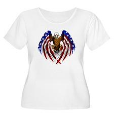 FLAGEAGL2.png Plus Size T-Shirt
