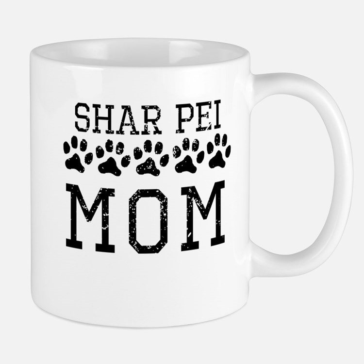 Shar Pei Mom (Distressed) Mugs