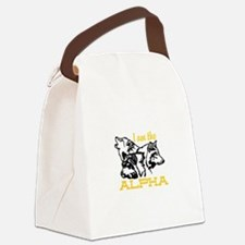 I am the Alpha Canvas Lunch Bag