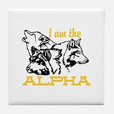 I am the Alpha Tile Coaster