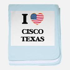 I love Cisco Texas baby blanket