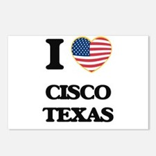 I love Cisco Texas Postcards (Package of 8)