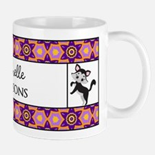 Cute Cat Floral Pattern Personalized Mug
