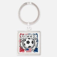 USA Soccer Square Keychain