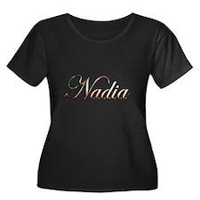 Gold Nadia Plus Size T-Shirt