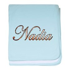 Gold Nadia baby blanket