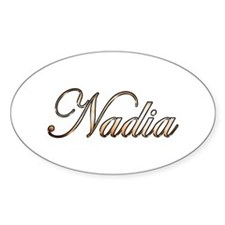 Gold Nadia Decal
