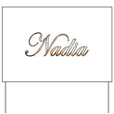 Gold Nadia Yard Sign