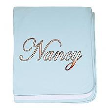 Gold Nancy baby blanket
