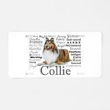 Collie Traits Aluminum License Plate