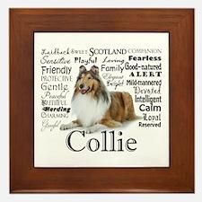 Collie Traits Framed Tile