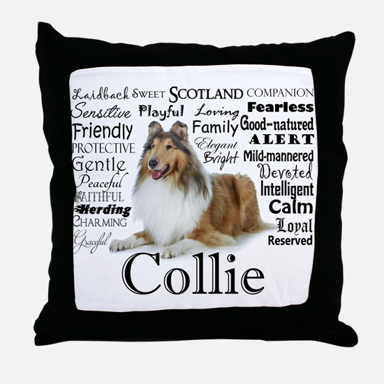 Collie Traits Throw Pillow