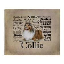 Collie Traits Throw Blanket