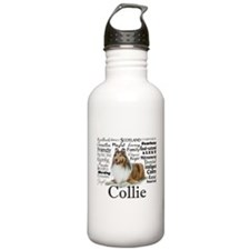 Collie Traits Water Bottle