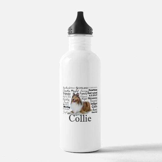 Collie Traits Water Bottle