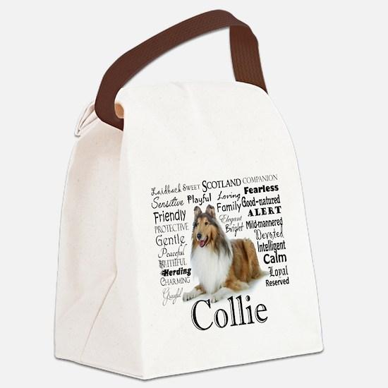 Collie Traits Canvas Lunch Bag