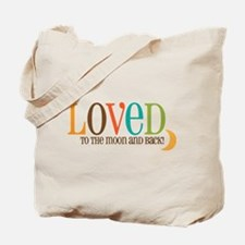 Loved to the Moon Tote Bag