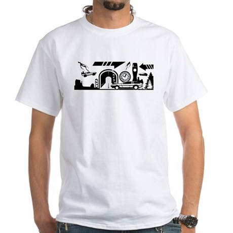 Back to the future mural design black t shirt by admin for Murals on the t shirt