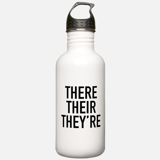 There Their They're Water Bottle