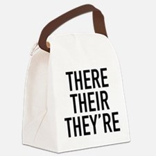 There Their They're Canvas Lunch Bag
