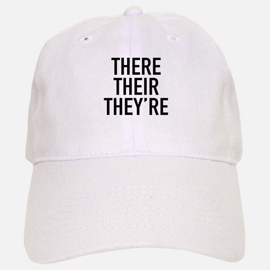 There Their They're Baseball Baseball Cap