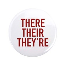 "There Their They're 3.5"" Button (100 pack)"