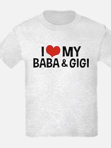 I Love My Baba and Gigi T-Shirt