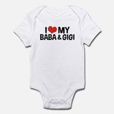 I Love My Baba and Gigi Infant Bodysuit