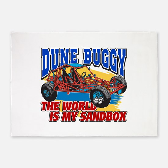 Dune Buggy Sandbox 5'x7'Area Rug