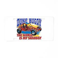 Dune Buggy Sandbox Aluminum License Plate
