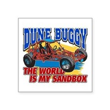 "Dune Buggy Sandbox Square Sticker 3"" x 3"""