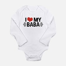 I Love My Baba Long Sleeve Infant Bodysuit