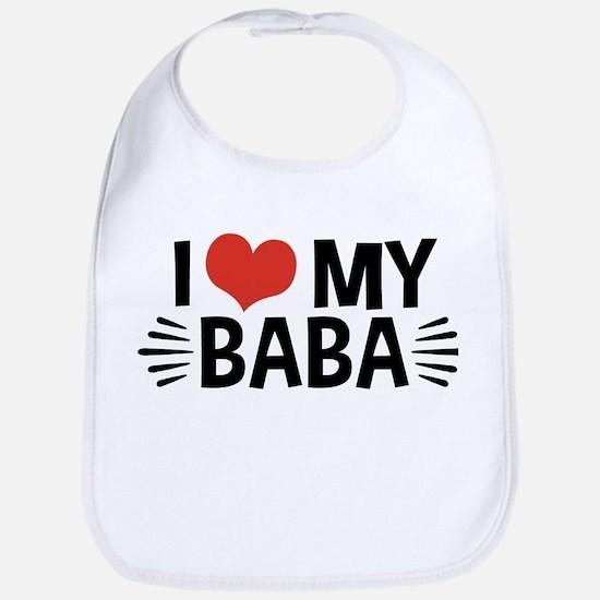 I Love My Baba Bib