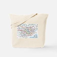 Tokyo Metro Map Tote Bag