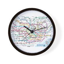 Tokyo Metro Map Wall Clock