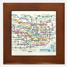 Tokyo Metro Map Framed Tile