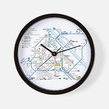 Vienna Metro Map Wall Clock