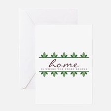 Story Begings At Home Greeting Cards